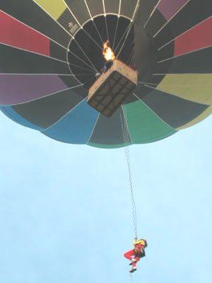Ballooning stunt work