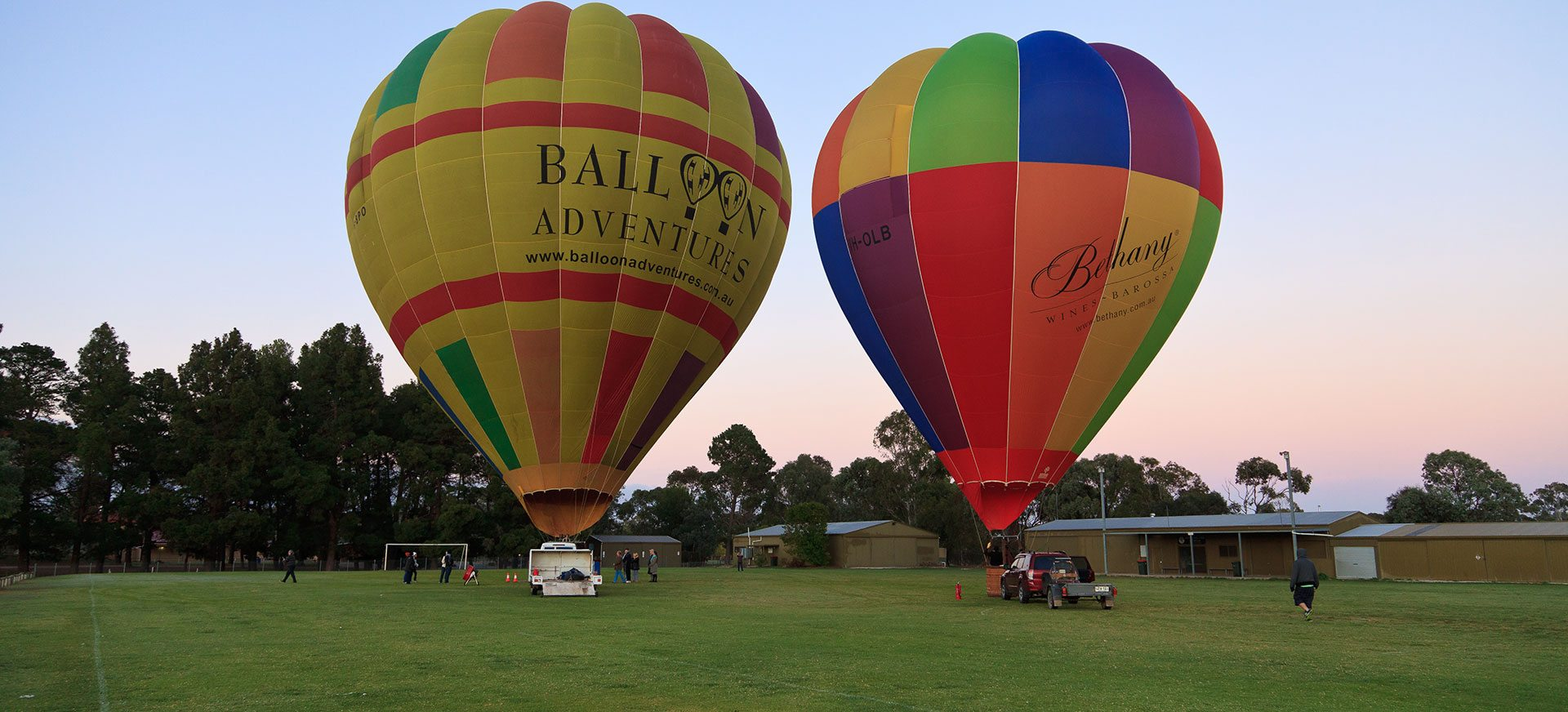 Two hot air balloons from Balloon Adventures Barossa, SA