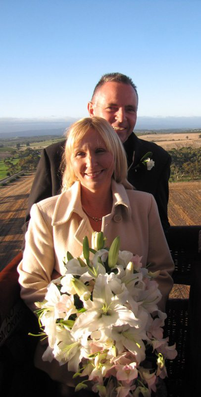 Romantic experiences in Barossa Valley, a couple on their wedding flight